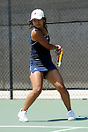 SAN DIEGO, CA - APRIL 24: Catherine Isip of the Saint Marys Gaels during the WCC Tennis Championships at the Barnes Tennis Center on April 24, 2010 in San Diego, California.