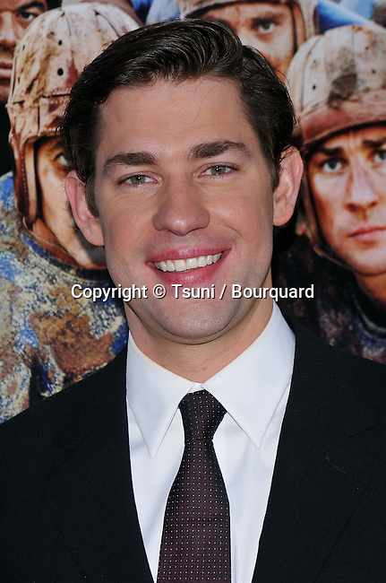 John Krasinski ( The Office )  @<br /> Leatherheads premiere at the Chinese Theatre In Los Angeles.<br /> <br /> Headshot<br /> eye contact<br /> smile