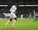 England's Danny Welbeck celebrates scoring his sides third goal<br /> <br /> - International European Qualifier - England vs Slovenia- Wembley Stadium - London - England - 15th November 2014  - Picture David Klein/Sportimage