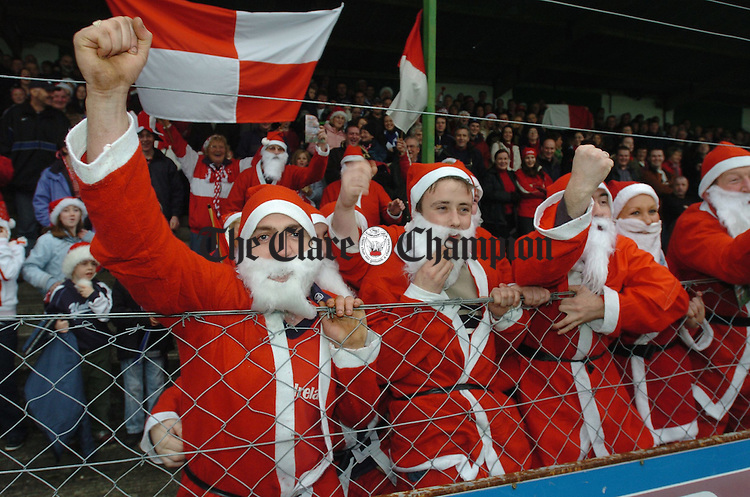 Santas from Stradbally at the AIB Munster Club senior Football Final replay in Kilmallock. Photograoh by John Kelly.