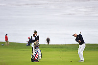 Martin Kaymer (GER) hits his approach shot on 11 during round 3 of the 2019 US Open, Pebble Beach Golf Links, Monterrey, California, USA. 6/15/2019.<br /> Picture: Golffile | Ken Murray<br /> <br /> All photo usage must carry mandatory copyright credit (© Golffile | Ken Murray)