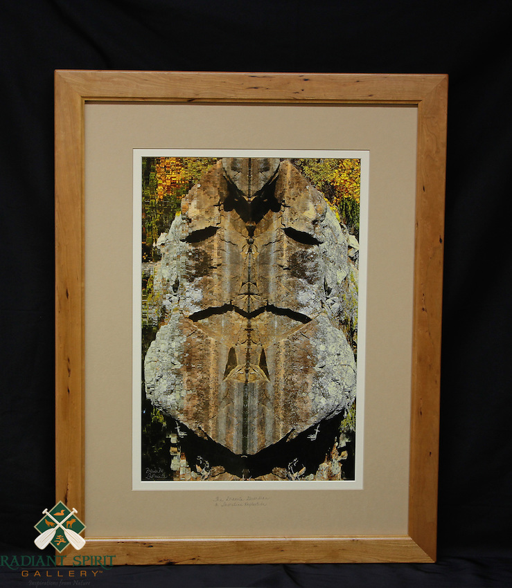 """The Granite Guardian: A Shoreline Reflection"", hand-made cherry frame, conservation grade matting, TruVue Museum Glass. Contact us for availability."