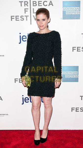 Kate Mara.2012 Tribeca Film Festival - 'Deadfall' Premiere, New York City, NY, USA..April 22nd, 2012.full length black dress green clutch bag.CAP/ADM/MSA.©Mario Santoro /AdMedia/Capital Pictures.