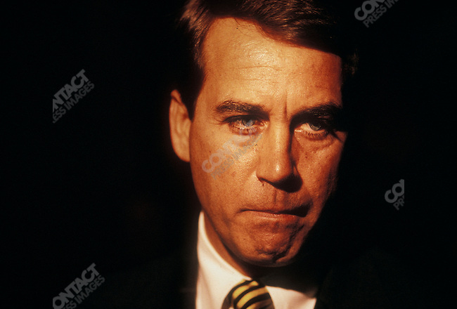 John Boehner (R-Ohio), former Chairman of the Republican Conference, currently Speaker of the House of Representatives. Washington, D.C., March 1995.