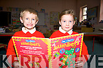 READING & WRITING: Barry Fitzgerald and Shauna Moriarty setting in on their first day of school at Derryquay National School on Wednesday.