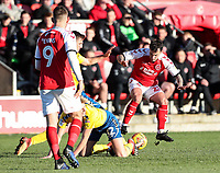 Fleetwood Town's Ross Wallace pounces on a loose ball  <br /> <br /> Photographer Andrew Kearns/CameraSport<br /> <br /> The EFL Sky Bet League One - Fleetwood Town v Charlton Athletic - Saturday 2nd February 2019 - Highbury Stadium - Fleetwood<br /> <br /> World Copyright © 2019 CameraSport. All rights reserved. 43 Linden Ave. Countesthorpe. Leicester. England. LE8 5PG - Tel: +44 (0) 116 277 4147 - admin@camerasport.com - www.camerasport.com