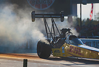 Oct 11, 2019; Concord, NC, USA; NHRA top fuel driver Richie Crampton during qualifying for the Carolina Nationals at zMax Dragway. Mandatory Credit: Mark J. Rebilas-USA TODAY Sports