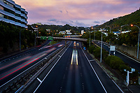State Highway One urban motorway to Wellington CBD at 7am during Level 3 lockdown for COVID19 pandemic in Wellington, New Zealand on Thursday, 7 May 2020. Photo: Dave Lintott / lintottphoto.co.nz