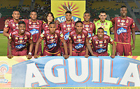 IBAGUÉ- COLOMBIA, 13-02-2018:Formación del Deportes Tolima contra Alianza Petrolera    durante el partido entre el Deportes Tolima  y Alianza Petrolera  por la fecha 3 de la Liga Águila II 2018 jugado en el estadio Manuel Murillo Toro . / Team of Deportes Tolima agaisnt of Alianza Petrolera  during match between Deportes Tolima  and Alianza Petrolera  for the date 3 of the Aguila League I 2018 played at Manuel Murillo Toro stadium. Photo: VizzorImage/ Juan Carlos Escobar / Contribuidor