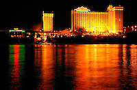 The Colorado River flows in front of Harrah's in Laughlin, Nevada
