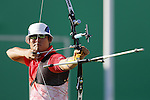Takaharu Furukawa (JPN), <br /> AUGUST 12, 2016 - Archery : <br /> Men's Individual quarter finals <br /> at Sambodromo <br /> during the Rio 2016 Olympic Games in Rio de Janeiro, Brazil. <br /> (Photo by Yusuke Nakanishi/AFLO SPORT)