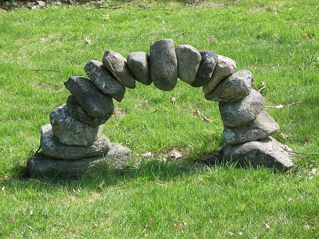 Handmade rock arch.