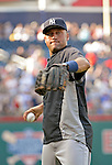 15 June 2012: New York Yankees shortstop Derek Jeter warms up prior to a game against the Washington Nationals at Nationals Park in Washington, DC. The Yankees defeated the Nationals 7-2 in the first game of their 3-game series. Mandatory Credit: Ed Wolfstein Photo