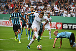 11.08.2019, Carl-Benz-Stadion, Mannheim, GER, DFB Pokal, 1. Runde, SV Waldhof Mannheim vs. Eintracht Frankfurt, <br /> <br /> DFL REGULATIONS PROHIBIT ANY USE OF PHOTOGRAPHS AS IMAGE SEQUENCES AND/OR QUASI-VIDEO.<br /> <br /> im Bild: Dominik Kohr (Eintracht Frankfurt #28) gegen Marcel Seegert (SV Waldhof Mannheim #5)<br /> <br /> Foto © nordphoto / Fabisch