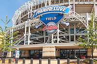 A view of Progressive Field, home of the Cleveland Indians, from Ontario Street in Cleveland, Ohio.