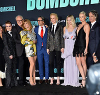 "LOS ANGELES, USA. December 11, 2019: Liv Hewson, John Lithgow, Connie Britton, Charles Randolph, Nicole Kidman, Margot Robbie & Charlize Theron at the premiere of ""Bombshell"" at the Regency Village Theatre.<br /> Picture: Paul Smith/Featureflash"