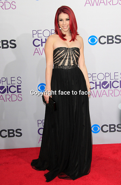Jillian Rose Reed attending the 34th Annual People's Choice Awards at the Nokia Theatre in Los Angeles, California, January 9, 2013...Credit: Martin Smith/face to face
