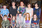 Lixnaw athletes at the Kerry Community Games annual awards ceremony in the River Island Hotel on Friday front row l-r: Sean Kissane, Erin Healy, Aoife O'Mahony, Niamh Healy, Alannah Kissane. Back row: Gearoid Galvin, Annette Galvin, Joanne Healy, Siobhain and Liz O'Donnell..