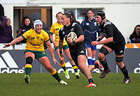 Honey Hireme in action during the 2017 International Women's Rugby Series rugby match between the NZ Black Ferns and Australia Wallaroos at Rugby Park in Christchurch, New Zealand on Tuesday, 13 June 2017. Photo: Dave Lintott / lintottphoto.co.nz