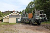 This Cold War-era amphibious military landing craft is now used by the monks of Caldey Island to cross to the mainland at Tenby during exceptionally low tides, when it isn't possible to make the crossing by boat.