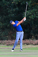 Julian Suri (USA) on the 2nd fairway during Round 3 of the Sky Sports British Masters at Walton Heath Golf Club in Tadworth, Surrey, England on Saturday 13th Oct 2018.<br /> Picture:  Thos Caffrey | Golffile