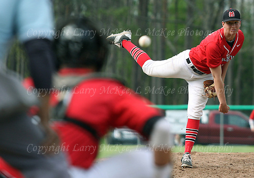 Orchard Lake St. Mary's vs Birmingham Brother Rice, varsity baseball action at St. Mary's Prep Wednesday, May 11, 2016. Photos: Larry McKee, L McKee Photography. PLEASE NOTE: ALL PHOTOS ARE CUSTOM CROPPED. THIS CAN CAUSE EXTRA WHITE SPACE AROUND BORDERS. BEFORE PURCHASING AN IMAGE, PLEASE CHOOSE PROPER PRINT FORMAT TO BEST FIT IMAGE DIMENSIONS.  L McKee Photography, Clarkston, Michigan. L McKee Photography, Specializing in Action Sports, Senior Portrait and Multi-Media Photography. Other L McKee Photography services include business profile, commercial, event, editorial, newspaper and magazine photography. Oakland Press Photographer. North Oakland Sports Chief Photographer. L McKee Photography, serving Oakland County, Genesee County, Livingston County and Wayne County, Michigan. L McKee Photography, specializing in high school varsity action sports and senior portrait photography.
