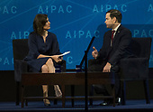 United States Senator Marco Rubio (Republican of Florida) is interviewed by Claire Shipman at the American Israel Public Affairs Committee (AIPAC) 2018 Policy Conference at the Washington Convention Center in Washington, DC on Tuesday, March 6, 2018.<br /> Credit: Ron Sachs / CNP