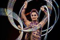 Santiago Mazzarovich/ URUGUAY/ CANELONES/ PARQUE ROOSVELT/ La reconocida compa&ntilde;&iacute;a circense, Cirque du Soleil, realiz&oacute; un ensayo general del espect&aacute;culo Kooza, antes de la primera funci&oacute;n en el Parque Roosvelt, Canelones.<br /> <br /> En la foto: Ensayo general del espect&aacute;culo Kooza del Cirque du Soleil en el Parque Roosvelt, Canelones. Foto: Santiago Mazzarovich/adhocFotos.<br /> <br /> 20160308 d&iacute;a martes