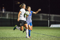 Allston, MA - Saturday Sept. 24, 2016: Abby Erceg, Brooke Elby during a regular season National Women's Soccer League (NWSL) match between the Boston Breakers and the Western New York Flash at Jordan Field.