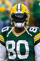 Green Bay Packers tight end Martellus Bennett (80) during a National Football League game against the New Orleans Saints on October 22, 2017 at Lambeau Field in Green Bay, Wisconsin.  New Orleans defeated Green Bay 26-17. (Brad Krause/Krause Sports Photography)