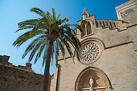 St. Jaume d'Alcudia (Saint James parish church) at Alcudia, Majorca.September 2012.