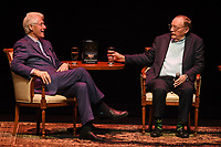 FORT LAUDERDALE FL - JUNE 12: Former U.S. President Bill Clinton and James Paterson speak during 'The President is Missing' book tour at The Broward Center on June 12, 2018 in Fort Lauderdale, Florida. Credit: mpi0/MediaPunch