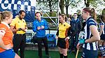 BLOEMENDAAL  - Hockey -  finale KNHB Gold Cup dames, Bloemendaal-HDM . Bloemendaal wint na shoot outs. Karen Doll&eacute;, Jacir Soares de Brito ,  en <br /> Armand Triepels. COPYRIGHT KOEN SUYK