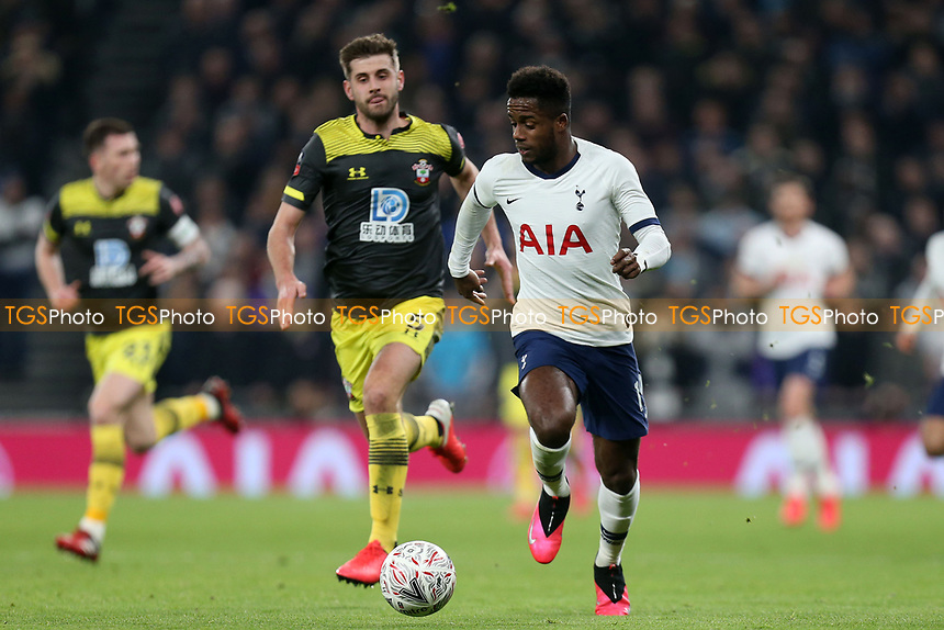 Ryan Sessegnon of Tottenham Hotspur and Jack Stephens of Southampton during Tottenham Hotspur vs Southampton, Emirates FA Cup Football at Tottenham Hotspur Stadium on 5th February 2020