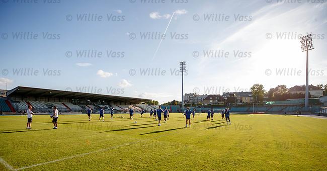 Rangers training at the Stade Josy Barthel