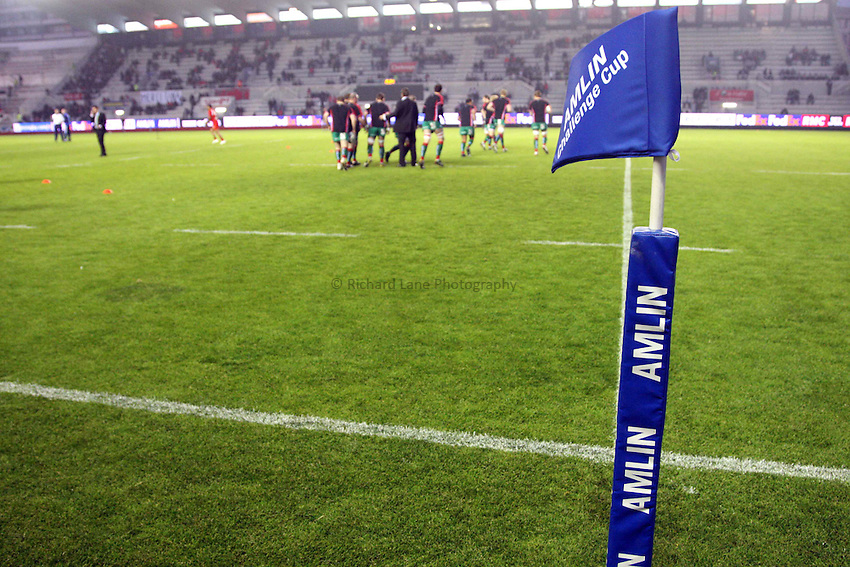 Photo: Iconsport/Richard Lane Photography. Toulon v Scarlets. Amlin Challenge Cup Quarter Final. 11/04/2010. .Amlin Challenge Cup touch flag.