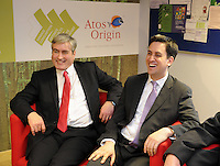 Labour Leader in Scotland Iain Gray and Leader for the labour Party Ed Miliband....