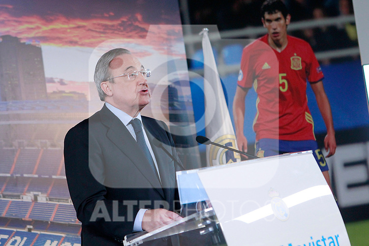 Real Madrid's President Florentino Perez. July 7, 2017. (ALTERPHOTOS/Acero)