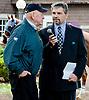 Jack van Berg being interviewed by Chris Sobocinski at Delaware Park on 9/14/13