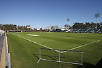 10 December 2009: The stadium field is being prepared for tomorrow's games. The Wake Forest University Demon Deacons held a press conference at WakeMed Soccer Stadium in Cary, North Carolina on the day before playing Virginia in an NCAA Division I Men's College Cup semifinal game.