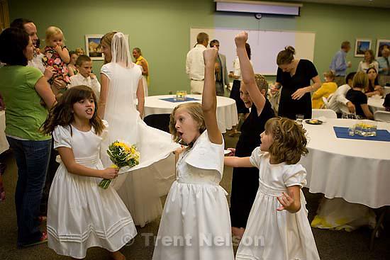 Maddie Quayle, Dave Scott wedding.Monday August 3, 2009 in South Jordan. drew, parker, camilla wickman