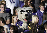 October 18, 2008:   Washington Huskies mascot Harry enjoyed a seat with the student body during the game against Oregon State.  Oregon State defeated Washington 34-13 at Husky Stadium in Seattle, Washington.