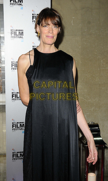 Clio Barnard<br /> attended the BFI London Film Festival Awards 2013, 57th BFI London Film Festival day 11, Banqueting House, Whitehall, London, England, UK, 19th October 2013.<br /> half length black dress <br /> CAP/CAN<br /> &copy;Can Nguyen/Capital Pictures