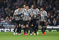 Newcastle United's Ciaran Clark celebrates scoring his side's second goal <br /> <br /> Photographer Rachel Holborn/CameraSport<br /> <br /> The Premier League - Burnley v Newcastle United - Monday 26th November 2018 - Turf Moor - Burnley<br /> <br /> World Copyright &copy; 2018 CameraSport. All rights reserved. 43 Linden Ave. Countesthorpe. Leicester. England. LE8 5PG - Tel: +44 (0) 116 277 4147 - admin@camerasport.com - www.camerasport.com