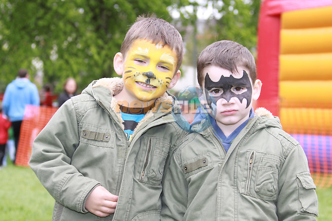 Ciaran and Pearse Branigan at the Arts Festival in Dominics park.Pic Fran Caffrey/Newsfile.ie