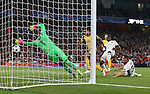 Arsenal's Theo Walcott scoring his sides opening goal during the Champions League group A match at the Emirates Stadium, London. Picture date September 28th, 2016 Pic David Klein/Sportimage