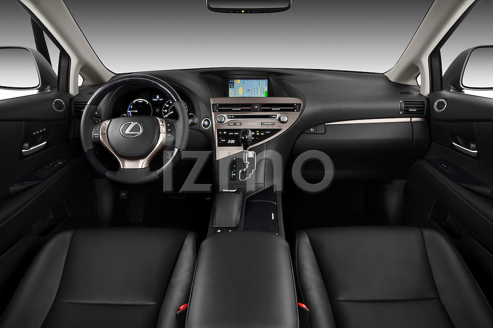 Straight dashboard view of a 2013 Lexus RX 450H