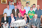 Castleisland Races committee presents a cheque of EUR10,532.87 to the Castleisland Playground committee in the Kingdom House Castleisland on Saturday night front row l-r: Bobby O'Connell Mayor of Kerry, Charlie Farrelly, Orla Casey, Paddy Maher. Back row: John Ryan, Stephen O'Brien, Jim Lordon, Bob O'Sullivan,Martina O'Mahony,  Ronan Burke, William Reidy, James Maher and Tom O'Sullivan..