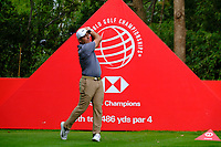 Francesco Molinari (ITA) on the 9th tee during the 1st round at the WGC HSBC Champions 2018, Sheshan Golf Club, Shanghai, China. 25/10/2018.<br />
