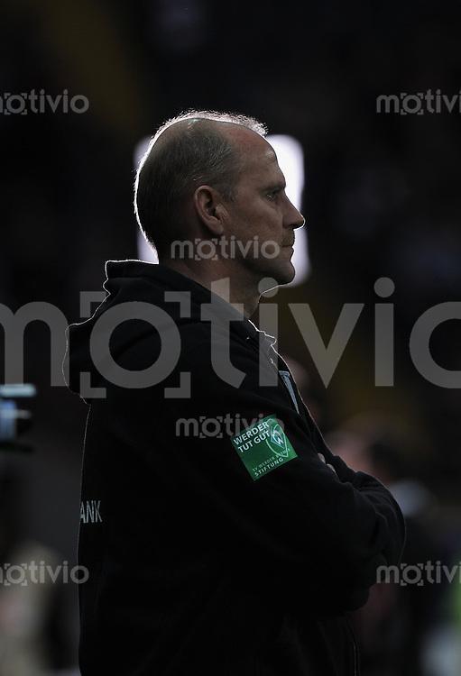 Fussball 1. Bundesliga :  Saison   2010/2011   29. Spieltag  08.04.2011 Eintracht Frankfurt - SV Werder Bremen Trainer Thomas Schaaf (SV Werder Bremen)